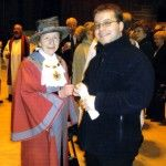 With Cllr Joan Quilliam (then Mayor of Knowsley) at Liverpool Cathedral
