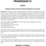 Promenade Title Page